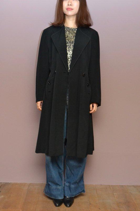 1950's Vintage black wool light coat