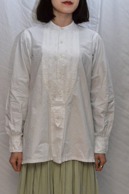 <img class='new_mark_img1' src='https://img.shop-pro.jp/img/new/icons50.gif' style='border:none;display:inline;margin:0px;padding:0px;width:auto;' />1930's France vintage cotton dress shirt