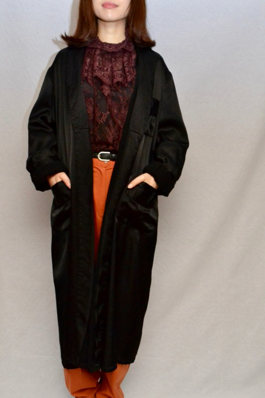 Vintage black rayon gown