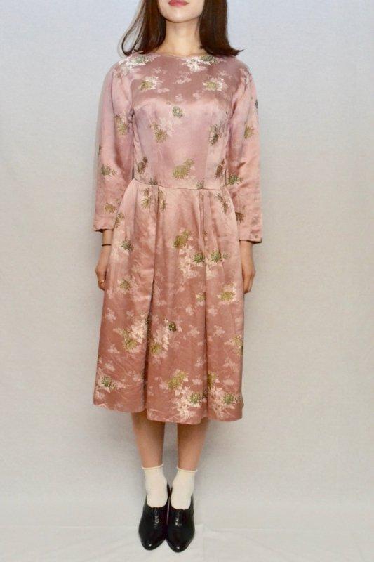 1950's  jacquard flower vintage dress