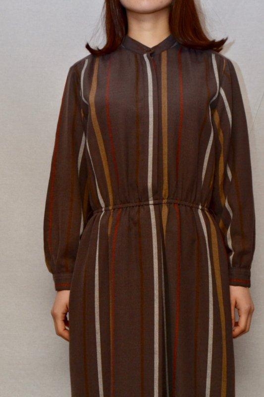 Blown color stripe design vintage dress