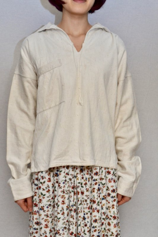 <img class='new_mark_img1' src='https://img.shop-pro.jp/img/new/icons8.gif' style='border:none;display:inline;margin:0px;padding:0px;width:auto;' />1930's France vintage fisherman linen  jacket