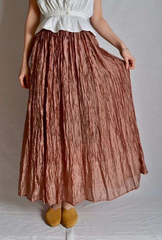 <img class='new_mark_img1' src='https://img.shop-pro.jp/img/new/icons50.gif' style='border:none;display:inline;margin:0px;padding:0px;width:auto;' />Washer finish dusty pink vintage long skirt