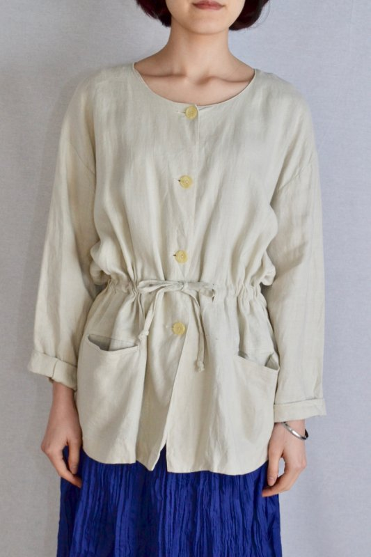 <img class='new_mark_img1' src='https://img.shop-pro.jp/img/new/icons50.gif' style='border:none;display:inline;margin:0px;padding:0px;width:auto;' />Vintage linen drawstring jacket