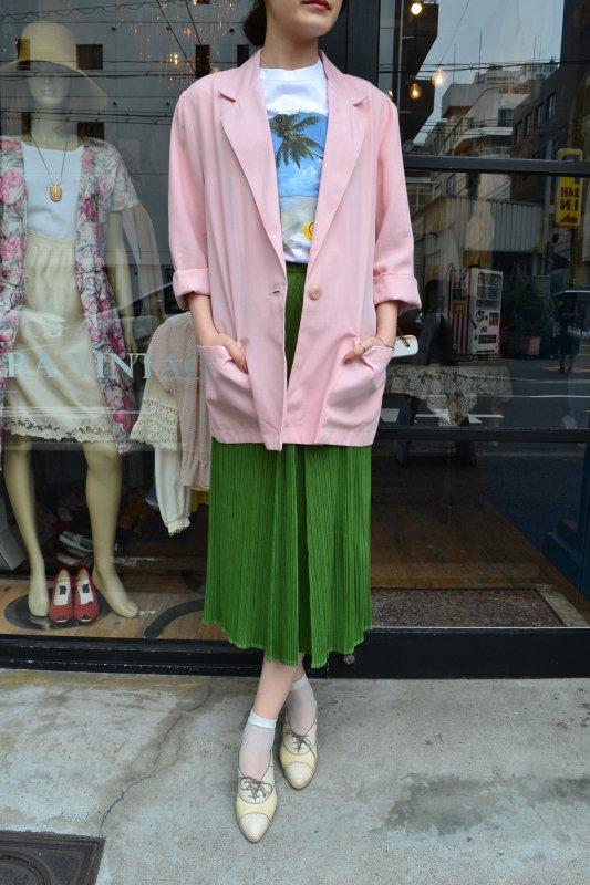 Vintage pink tailored long Jacket