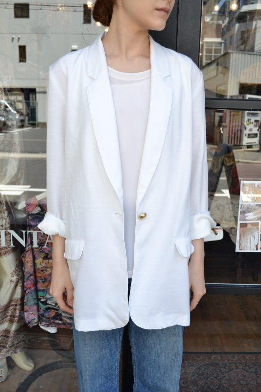Vintage white summer jacket