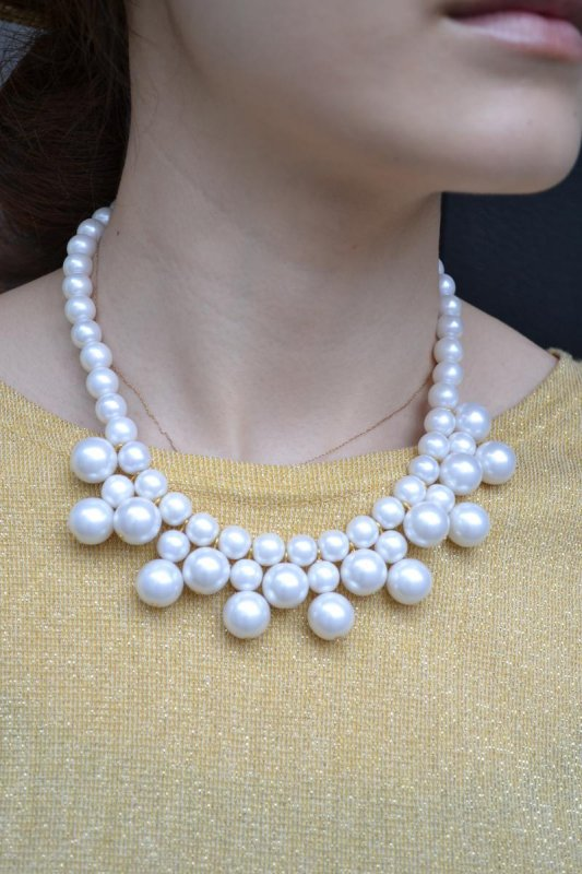1950's pearl necklace(dead stock)