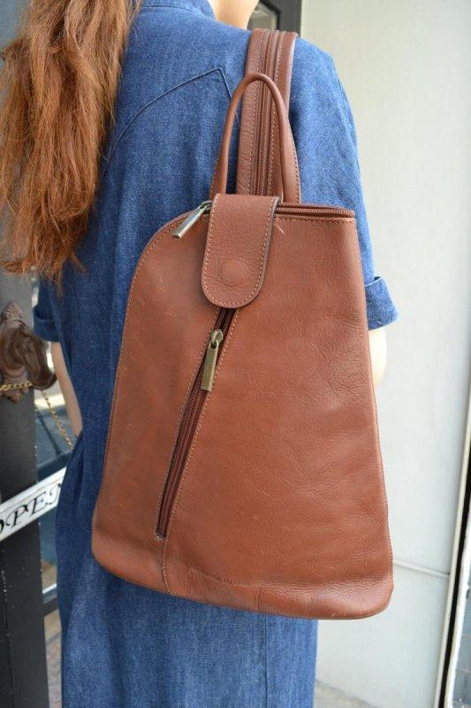 Vintage brown leather 2way bag