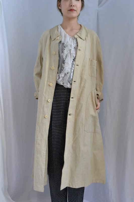 1910's France antique linen coat