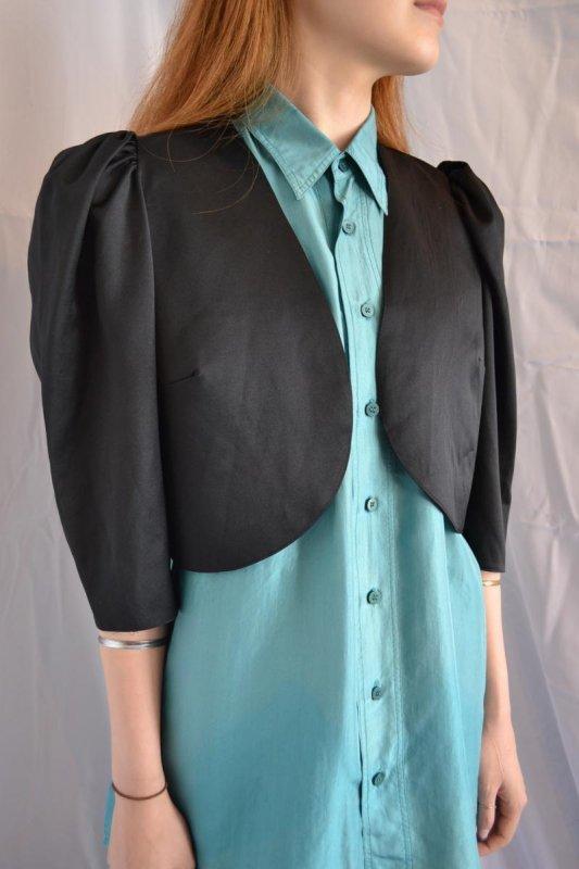 Vintage black puff sleeve jacket