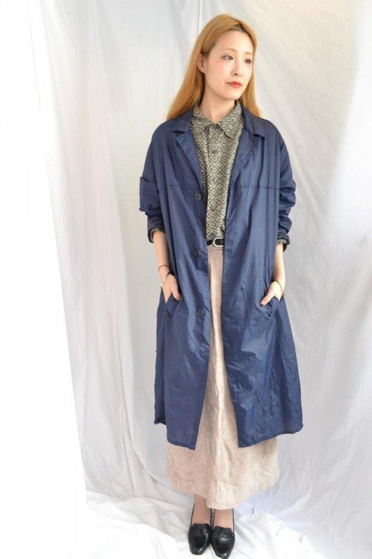 vintage navy raglan sleeve nylon coat