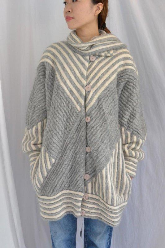 Vintage big silhouette knit gown coat