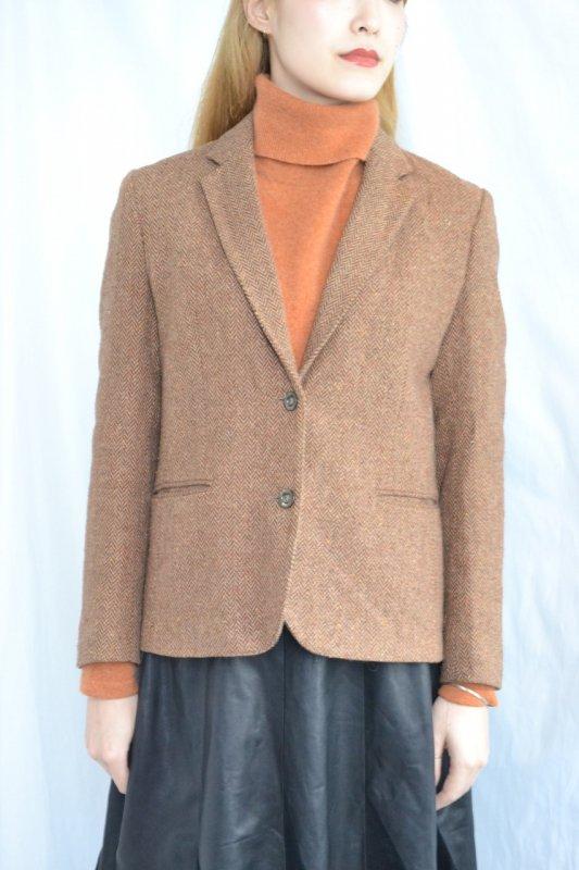 vintage camel herringbone tweed jacket
