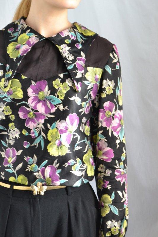1940's-50's vintage flower print blouse