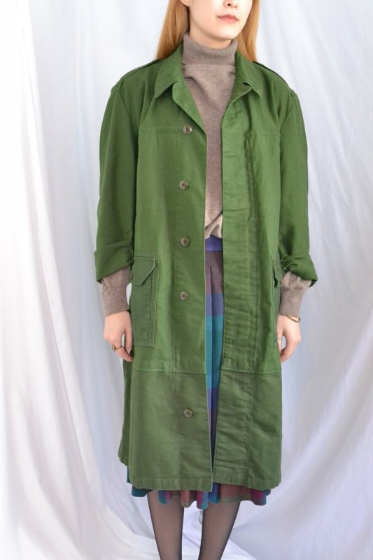 Euro military vintage work coat remake