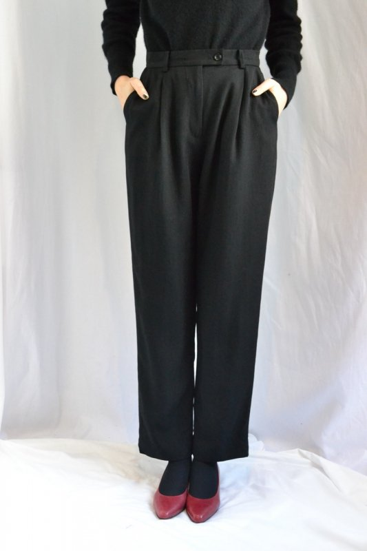 Vintage black tuck pants