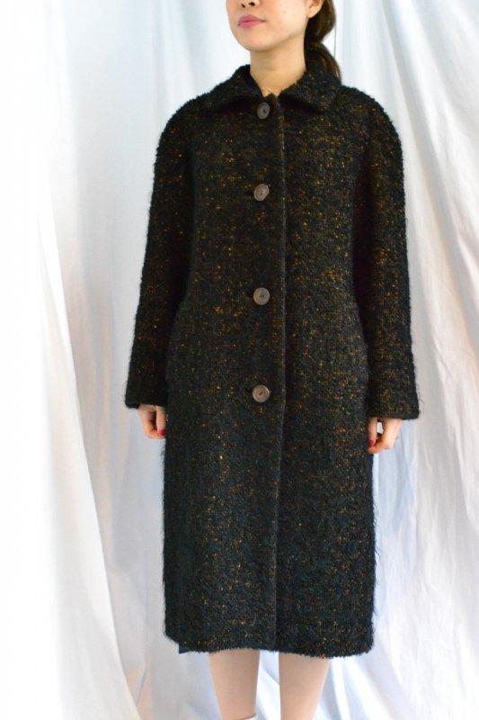 1950's-60's vintage tweed soutien collar  coat
