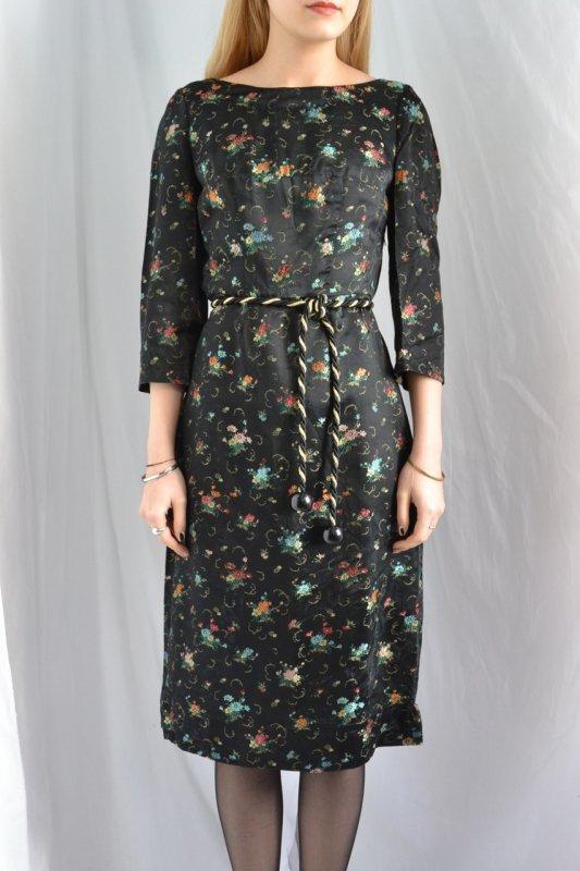 1950's jacquard fabric vintage dress