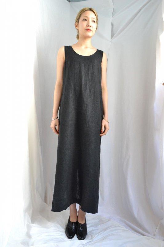 <img class='new_mark_img1' src='http://lara-vintage.shop-pro.jp/img/new/icons50.gif' style='border:none;display:inline;margin:0px;padding:0px;width:auto;' />vintage black linen long dress