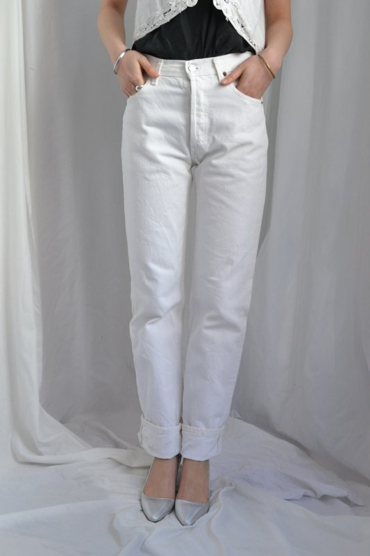 Levi's 501 white denim