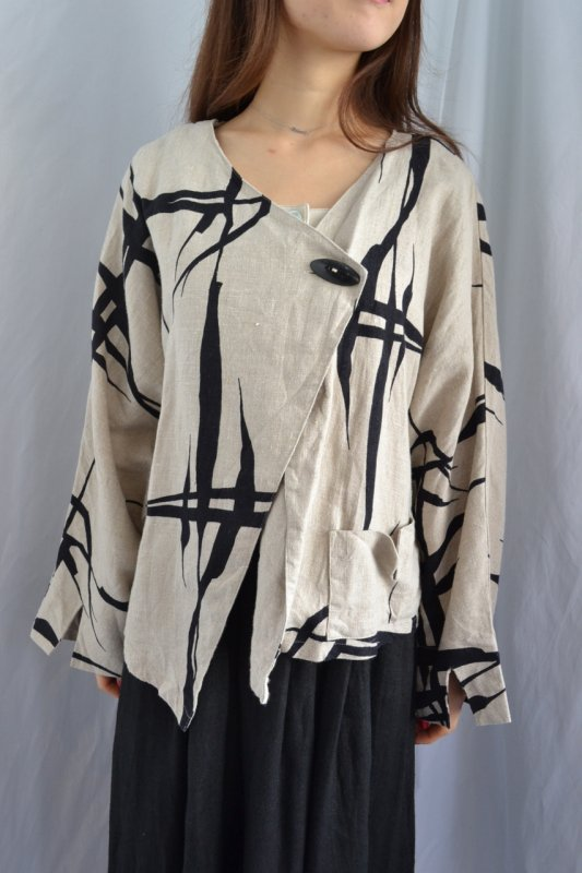Vintage oversize linen jacket