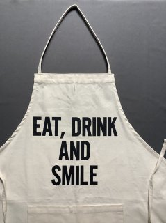 DRESSSENエプロン<br> TYPE:#46 <br> EAT, DRINK AND SMILE