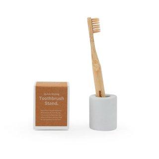 Bathroom sinkキット(竹歯ブラシ+スタンド)<br> 100%オーガニックバンブー