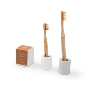 Bathroom sinkキット キッズ<br>(竹歯ブラシ+スタンド)<br>100%オーガニックバンブー