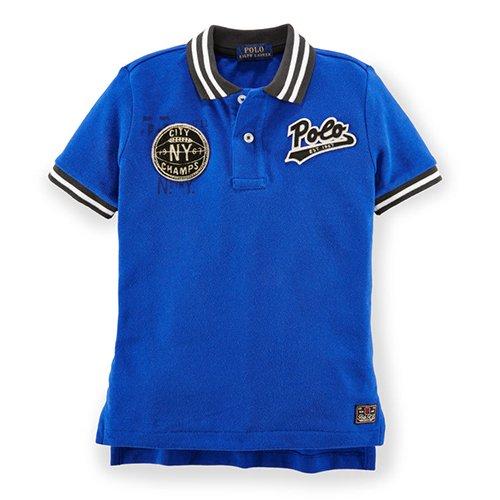 【ラルフローレン】 POLOベースボール半袖ポロシャツ/ブルー☆3T〜7