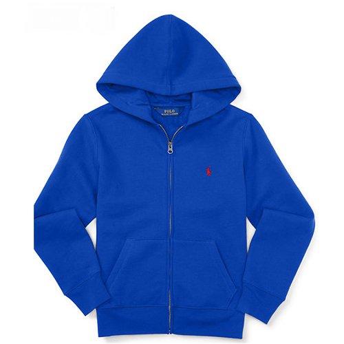 【ラルフローレン】 ワンポイントポニー フルジップパーカー/ブルー☆S〜XL
