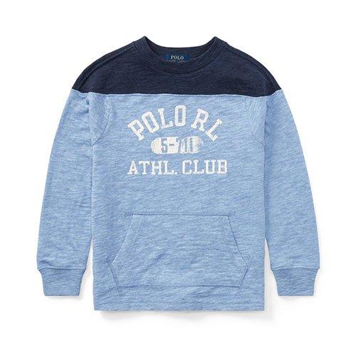 【ラルフローレン】グラフィッククルーネック長袖Tシャツ/ブルー☆S〜XL