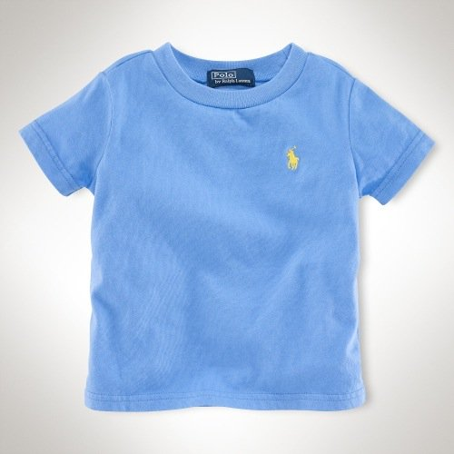 【ラルフローレン】  アウトレット★半袖コットンTシャツ/ブルー☆12M、18M、24M