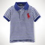 【ラルフローレン】 ビッグポニー半袖ボーダーポロシャツ/ブルー☆12M・18M ・24M