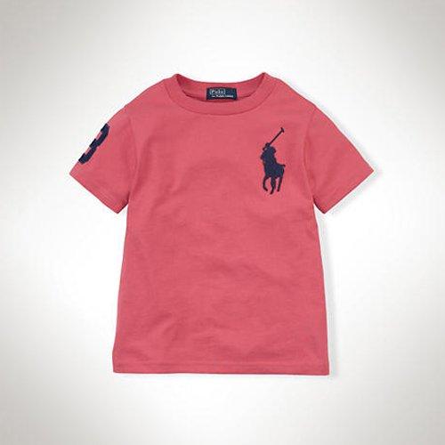 【ラルフローレン】 ビッグポニー・半袖Tシャツ/レッド☆3T〜7