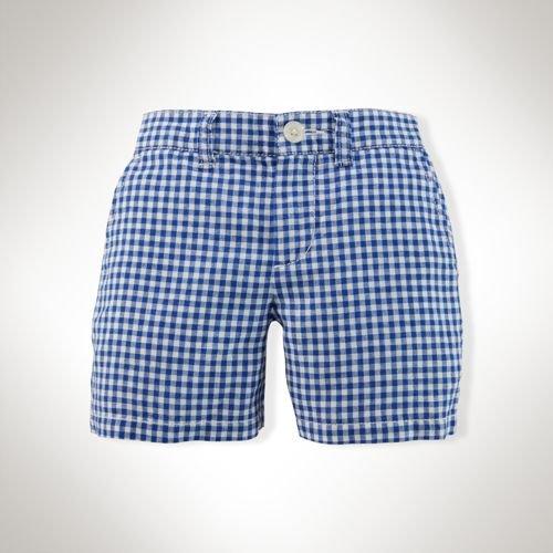 【ラルフローレン】  ギンガムチェックショートパンツ/ブルー☆12M、18M、24M