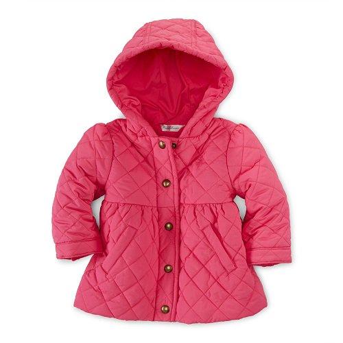 【ラルフローレン】フード付きキルティングジャケット/ピンク☆12M、18M、24M