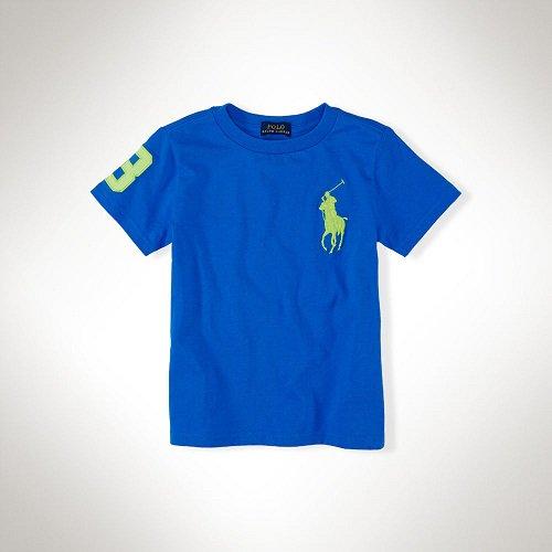 【ラルフローレン】 ビッグポニー半袖コットンTシャツ/ロイヤルブルー☆3T〜7