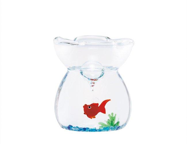 ガラスの巾着ミニセット 金魚・赤