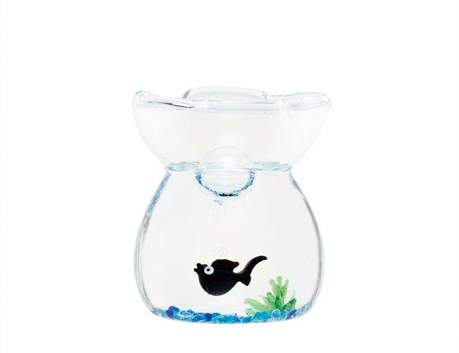 ガラスの巾着ミニセット 金魚・黒