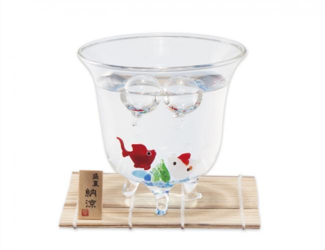 モダンな金魚鉢セット 赤&錦