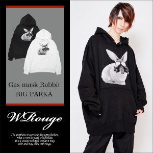 <img class='new_mark_img1' src='//img.shop-pro.jp/img/new/icons1.gif' style='border:none;display:inline;margin:0px;padding:0px;width:auto;' />WRouge(ルージュ)Gas mask Rabbit BIGパーカー