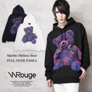 <img class='new_mark_img1' src='https://img.shop-pro.jp/img/new/icons1.gif' style='border:none;display:inline;margin:0px;padding:0px;width:auto;' />WRouge(ルージュ) Marble Bear BIGパーカー
