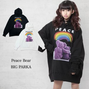 <img class='new_mark_img1' src='https://img.shop-pro.jp/img/new/icons1.gif' style='border:none;display:inline;margin:0px;padding:0px;width:auto;' />Peace Bear BIGパーカー