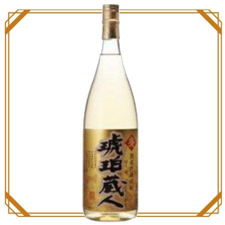 琥珀蔵人 麦 1800ml 【若松酒造】