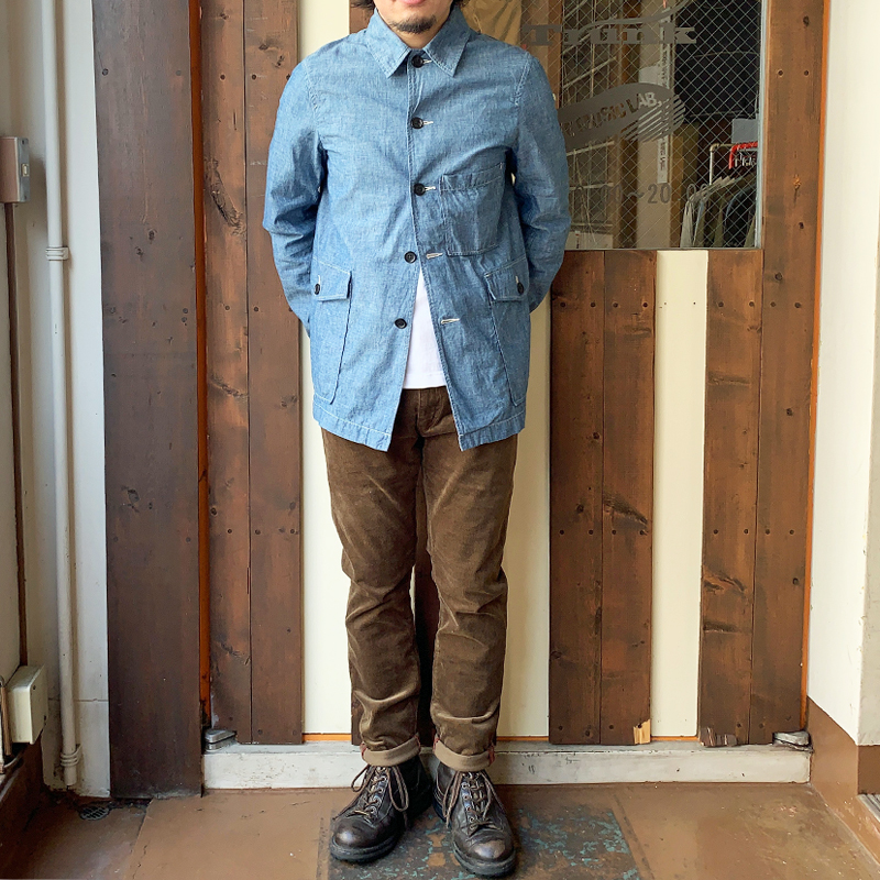 FOB FACTORY CHAMBRAY RAILROAD JACKET