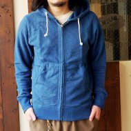 GO HEMP<br/>ZIP UP PARKA (BLUE)
