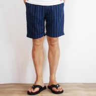 VOO<br/>INDIGO SEER SUCKER SHORTS (BLUE x NAVY)
