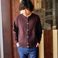 ANACHRONORM<br/>HEAVY WEIGHT SNAP L/S CREW(Dk.BROWN)