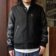 GO WEST<br/>TEAM JACKET/WOOL/GOAT LEATHER(BLACK)