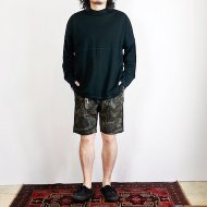 ionoi<br/>STITCH MOCK L/S TEE(BLACK)